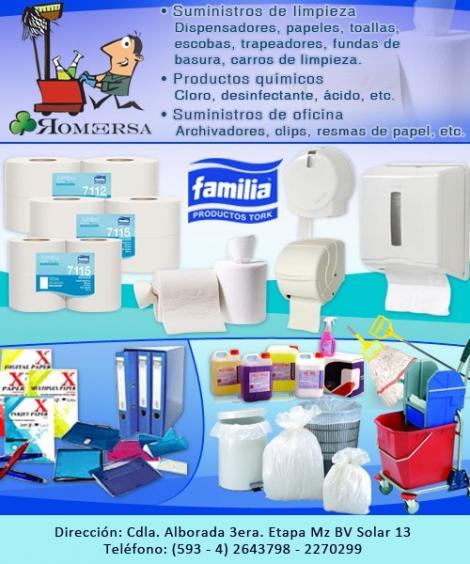 Productos e insumos de limpieza y articulos para el aseo for Productos de oficina