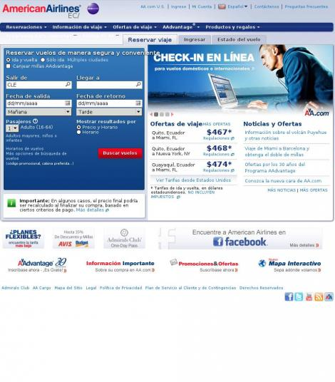 American Airlines Quito Pichincha