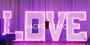 LETRAS LOVE PARA EVENTOS EN SAMBORONDON