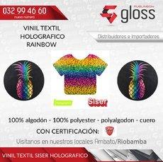 VINIL TEXTIL HOLOGRÁFICO RAINBOW