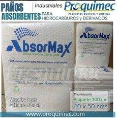 Paños absorbentes para hidrocarburos